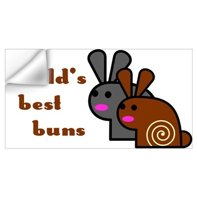 World's Best Buns Wall Decal