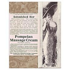 Pompeian Cream 1909 ad Poster