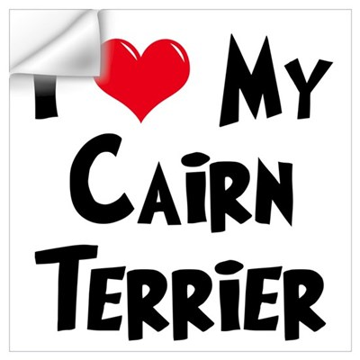 I Love My Cairn Terrier Wall Decal