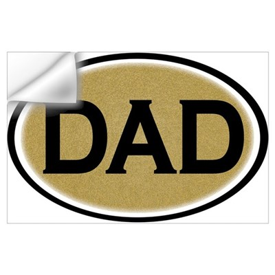 Dad Oval Wall Decal
