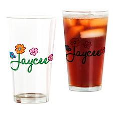 Jaycee Flowers Drinking Glass