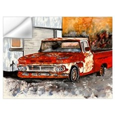 old pickup truck vintage anti Wall Decal