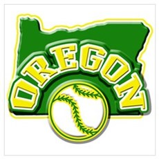 Oregon Baseball Framed Print