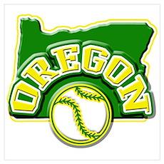 Oregon Baseball Poster