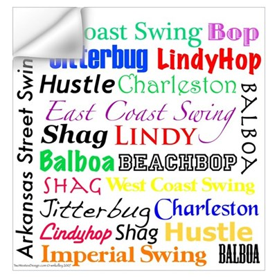 All Swing Dances Wall Decal