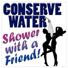 Save Water Shower With Friend Canvas Art