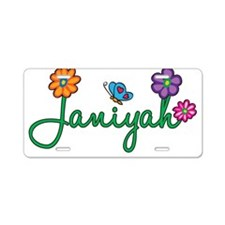 Janiyah Flowers Aluminum License Plate