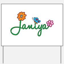 Janiya Flowers Yard Sign