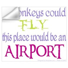 If Monkeys Could Fly Wall Decal