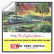 """1949 New England States Ad"" Wall Decal"