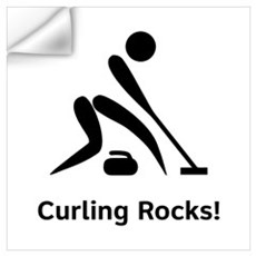 Curling Rocks! Wall Decal