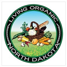 Living Organic North Dakota Poster