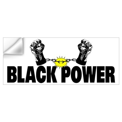 Black Power Fist Wall Decal