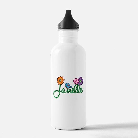 Janelle Flowers Water Bottle