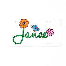 Janae Flowers Aluminum License Plate