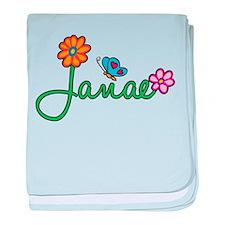 Janae Flowers baby blanket
