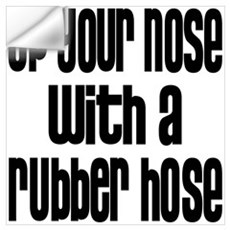 Up Your Nose 70s Wall Decal