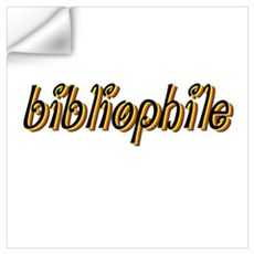 Bibliophile (bright) Wall Decal