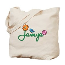 Jamya Flowers Tote Bag
