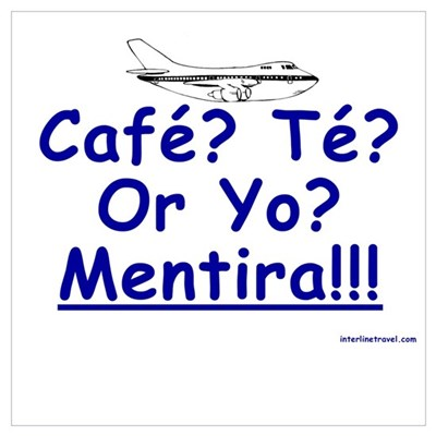 Cafe? Te? or Yo? I Poster