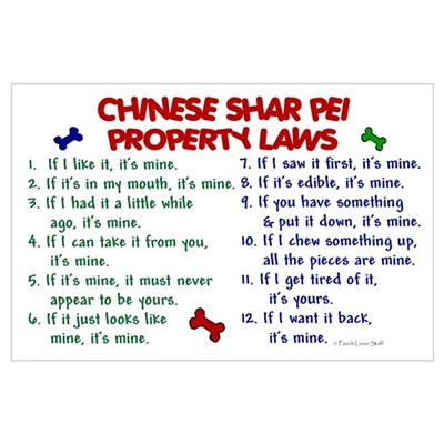 Chinese Shar Pei Property Laws 2 Poster