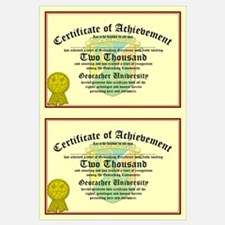 Certificate of Achievement - 2000 (Double