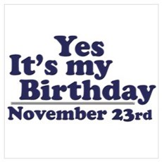 November 23rd Birthday Poster