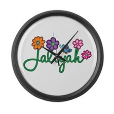 Jaliyah Flowers Large Wall Clock