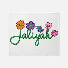 Jaliyah Flowers Throw Blanket