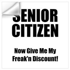 Senior Citizen Wall Decal