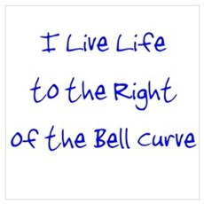 Right of the Bell Curve Framed Print