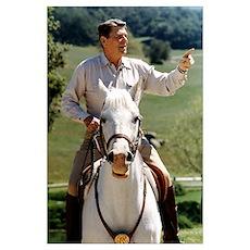 Reagan Horseback Poster