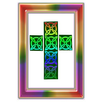 Glowing Celtic Cross Poster