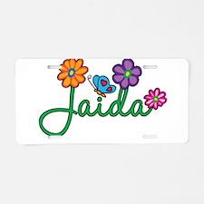 Jaida Flowers Aluminum License Plate