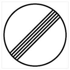 Autobahn No Speed Limit Sign Poster
