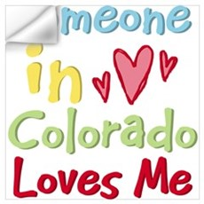 Someone in Colorado Loves Me Wall Decal