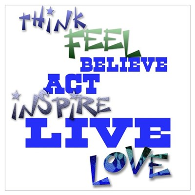 Think, Feel, Believe, Act, In Poster