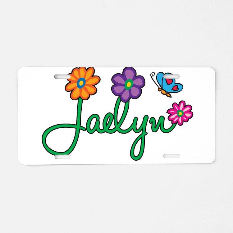 Jaelyn Flowers Aluminum License Plate