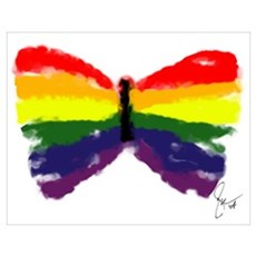 Artistic Gay Pride Butterfly Poster