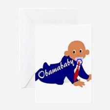 Obama baby Greeting Card