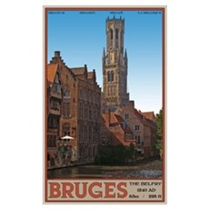 The Bruges Belfry Canvas Art
