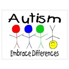 Autism, Embrace Differences Framed Print