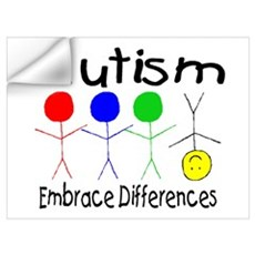 Autism, Embrace Differences Wall Decal