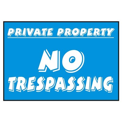 No Trespassing Canvas Art