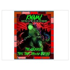 """Kwame Destroys Detroit"" Poster"