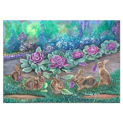 Cottontail rabbits Poster