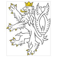Bohemian Lion Poster