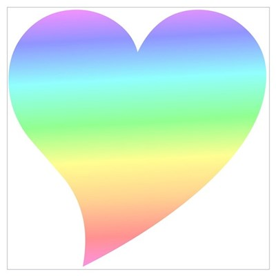 Sixties Pastel Heart Poster