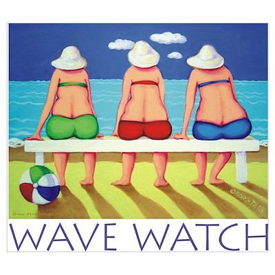 Wave Watch - Beach Poster