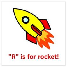 R is for Rocket Poster